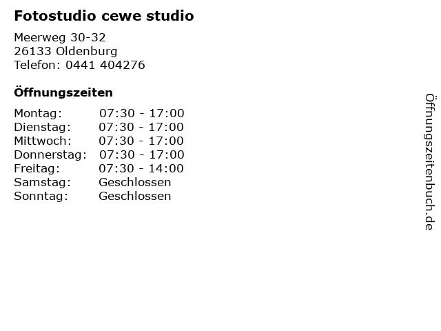 Fotostudio cewe studio in Oldenburg: Adresse und Öffnungszeiten