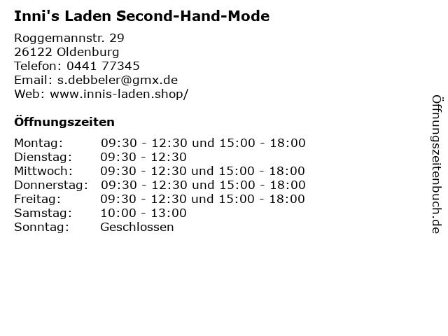 Inni's Laden Second-Hand-Mode in Oldenburg: Adresse und Öffnungszeiten