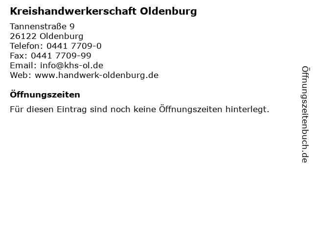 Kreishandwerkerschaft Oldenburg in Oldenburg: Adresse und Öffnungszeiten