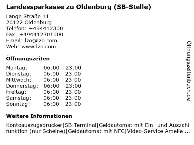 Landessparkasse zu Oldenburg - Filiale Altenoythe in Oldenburg: Adresse und Öffnungszeiten
