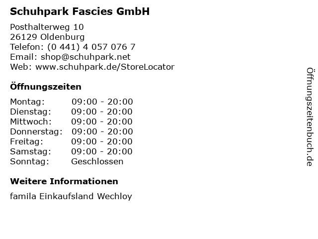Schuhpark Fascies GmbH in Oldenburg: Adresse und Öffnungszeiten