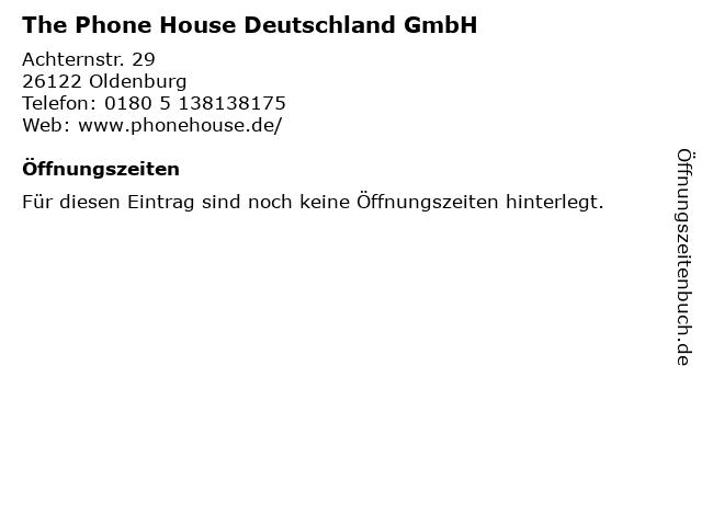 The Phone House Deutschland GmbH in Oldenburg: Adresse und Öffnungszeiten