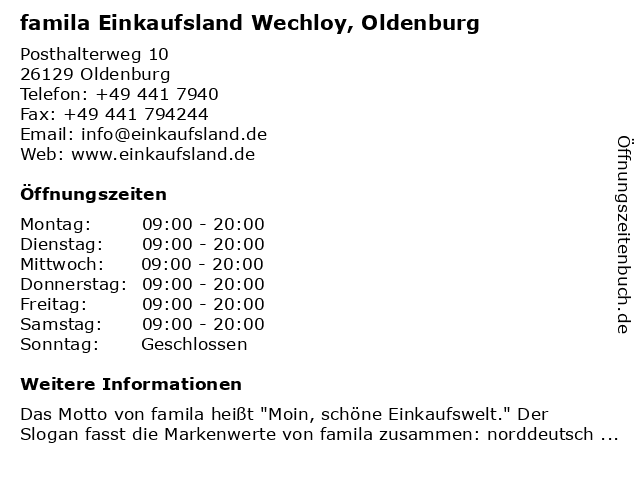 Oldenburg wechloy famila