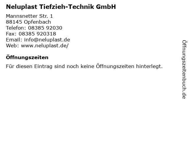 Neluplast Tiefzieh-Technik GmbH in Opfenbach: Adresse und Öffnungszeiten