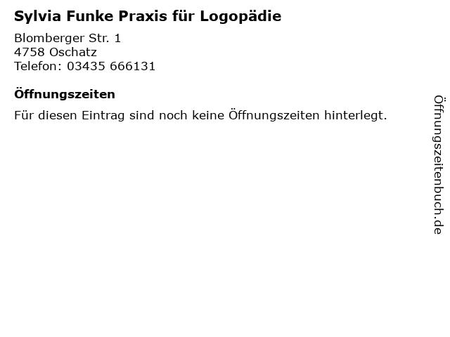 Sylvia Funke Praxis für Logopädie in Oschatz: Adresse und Öffnungszeiten