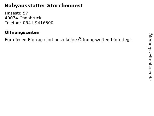 Babyausstatter Storchennest in Osnabrück: Adresse und Öffnungszeiten