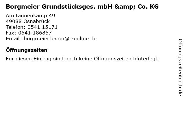 Borgmeier Erdbau- & Transport GmbH in Osnabrück: Adresse und Öffnungszeiten