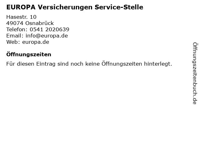 EUROPA Versicherungen Service-Stelle in Osnabrück: Adresse und Öffnungszeiten