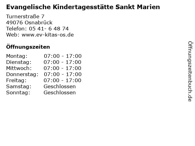 Evangelische Kindertagesstätte Sankt Marien in Osnabrück: Adresse und Öffnungszeiten