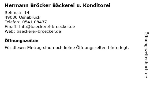 Hermann Bröcker Bäckerei u. Konditorei in Osnabrück: Adresse und Öffnungszeiten