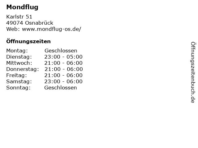 Mondflug in Osnabrück: Adresse und Öffnungszeiten