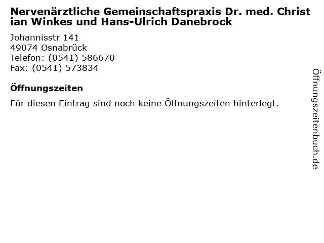 Nervenärztliche Gemeinschaftspraxis Dr. med. Christian Winkes und Hans-Ulrich Danebrock in Osnabrück: Adresse und Öffnungszeiten