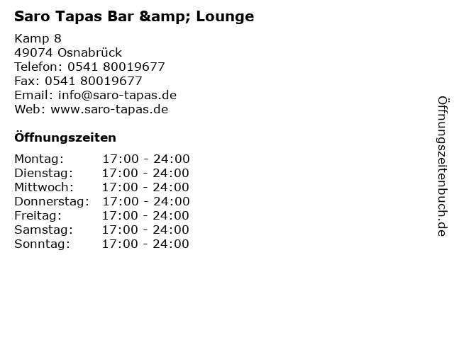 saro tapas bar