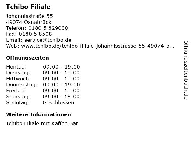 Tchibo Filiale in Osnabrück: Adresse und Öffnungszeiten