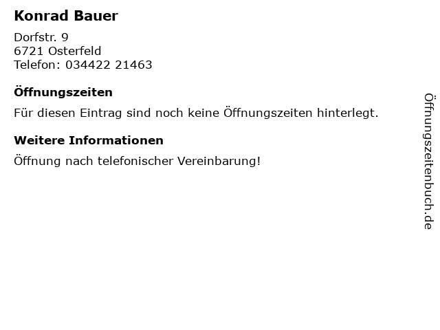 Konrad Bauer in Osterfeld: Adresse und Öffnungszeiten