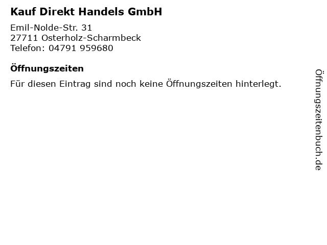 Kauf Direkt Handels GmbH in Osterholz-Scharmbeck: Adresse und Öffnungszeiten