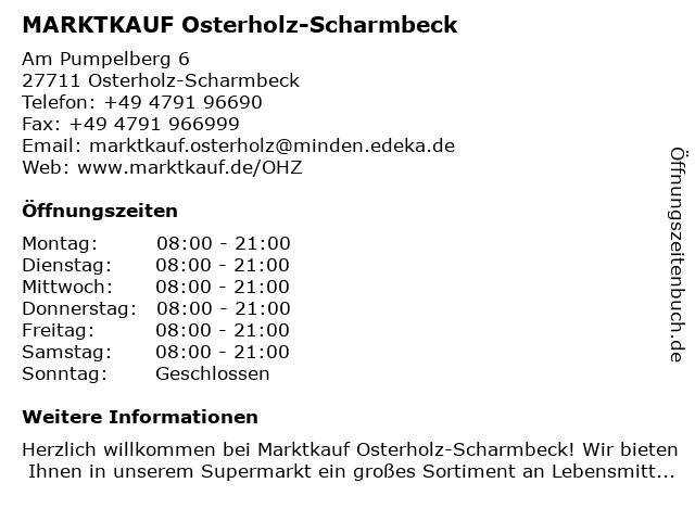 Marktkauf Osterholz-Scharmbeck in Osterholz-Scharmbeck: Adresse und Öffnungszeiten