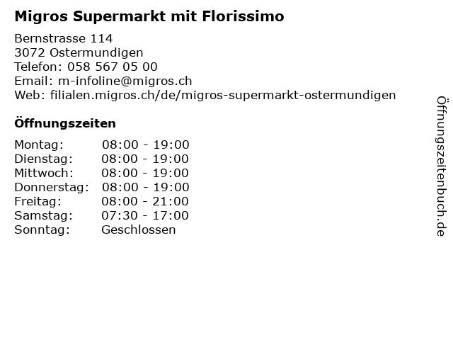 Migros-Supermarkt Ostermundigen mit Postagentur in Ostermundigen: Adresse und Öffnungszeiten