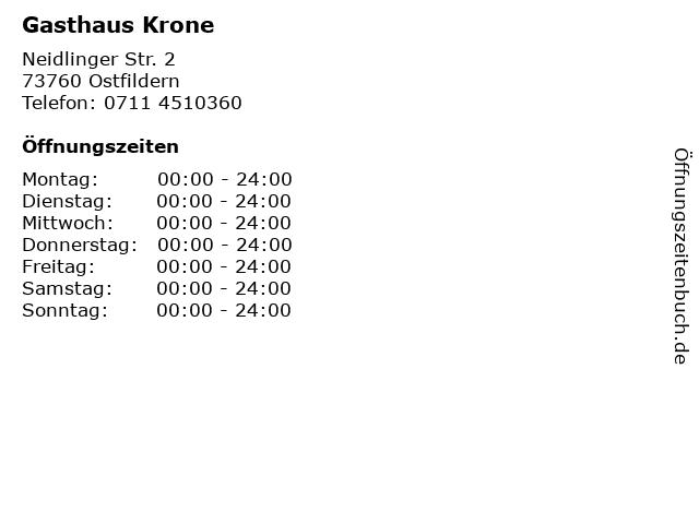 Gasthaus Krone in Ostfildern: Adresse und Öffnungszeiten