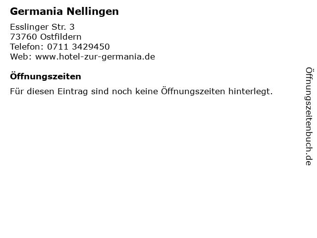 Germania Nellingen in Ostfildern: Adresse und Öffnungszeiten