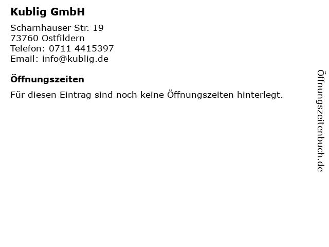 Mike Kublig Sanitärbetrieb in Ostfildern: Adresse und Öffnungszeiten