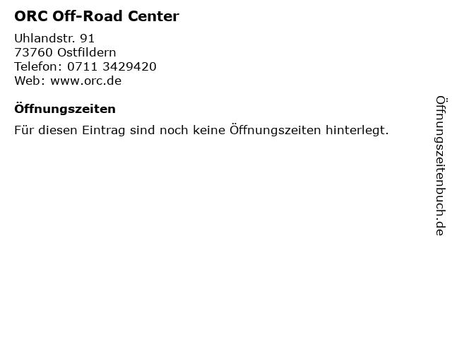 ORC Off-Road Center in Ostfildern: Adresse und Öffnungszeiten