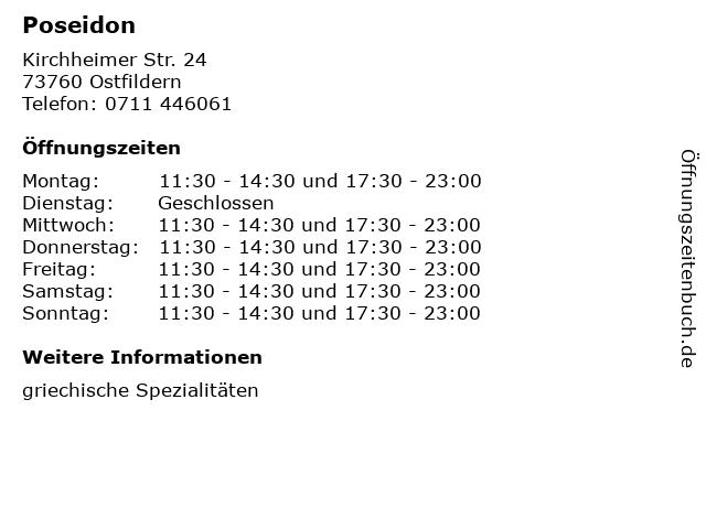 Poseidon in Ostfildern: Adresse und Öffnungszeiten