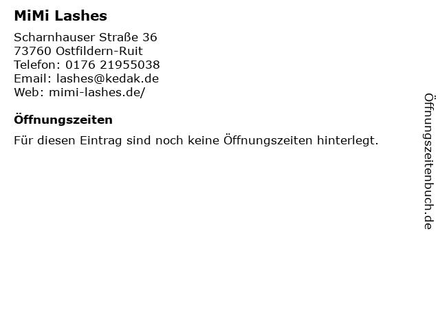 MiMi Lashes in Ostfildern-Ruit: Adresse und Öffnungszeiten
