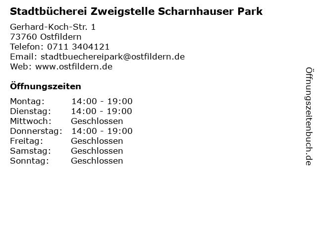 Stadtbücherei Zweigstelle Scharnhauser Park in Ostfildern: Adresse und Öffnungszeiten