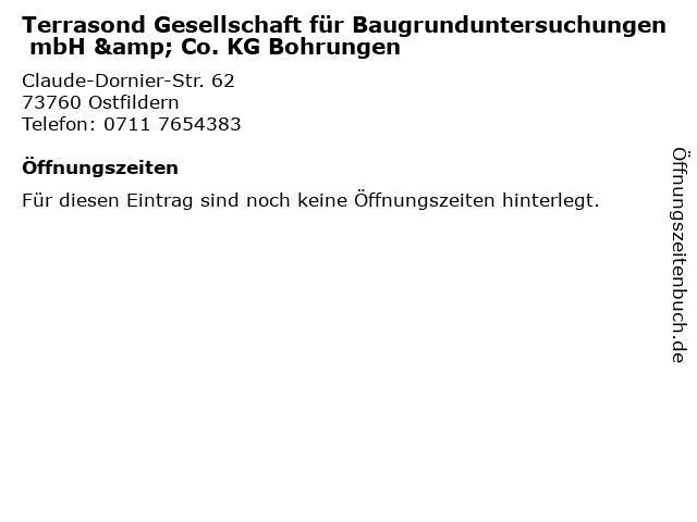 Terrasond Gesellschaft für Baugrunduntersuchungen mbH & Co. KG Bohrungen in Ostfildern: Adresse und Öffnungszeiten