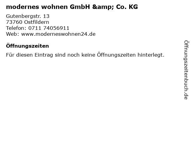 modernes wohnen GmbH & Co. KG in Ostfildern: Adresse und Öffnungszeiten
