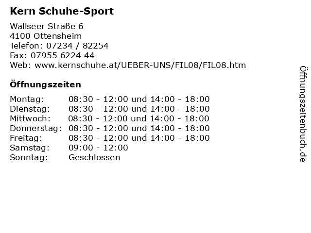 Kern Schuhe-Sport in Ottensheim: Adresse und Öffnungszeiten