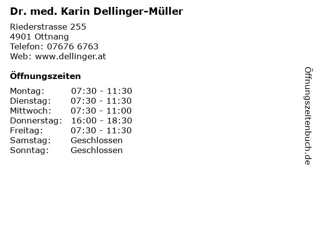 Dr. med. Karin Dellinger-Müller in Ottnang: Adresse und Öffnungszeiten