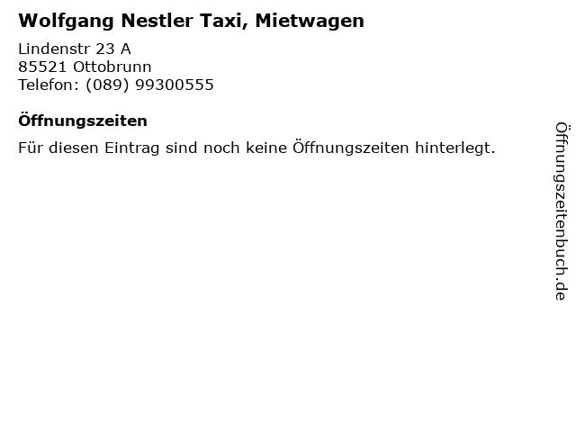 Wolfgang Nestler Taxi, Mietwagen in Ottobrunn: Adresse und Öffnungszeiten