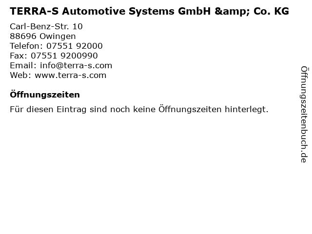 TERRA-S Automotive Systems GmbH & Co. KG in Owingen: Adresse und Öffnungszeiten