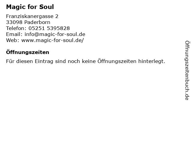 Magic for Soul in Paderborn: Adresse und Öffnungszeiten
