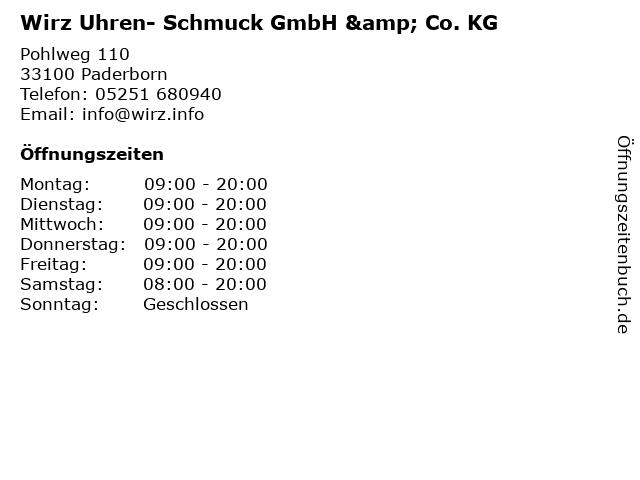 Wirz Uhren- Schmuck GmbH & Co. KG in Paderborn: Adresse und Öffnungszeiten