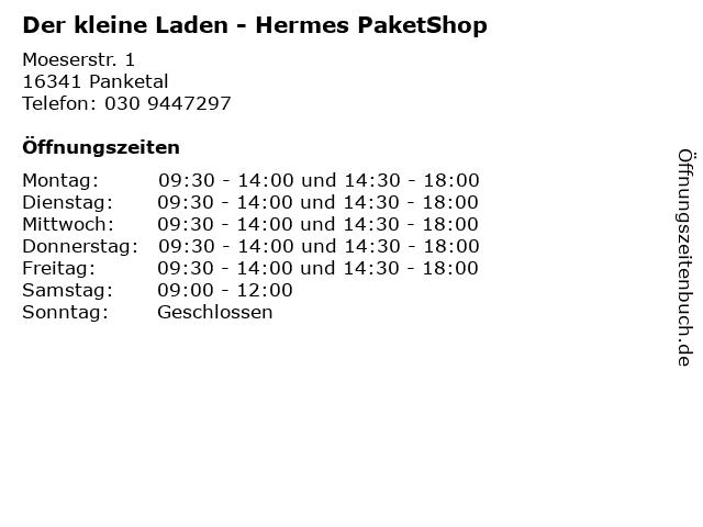 Der kleine Laden - Hermes PaketShop in Panketal: Adresse und Öffnungszeiten