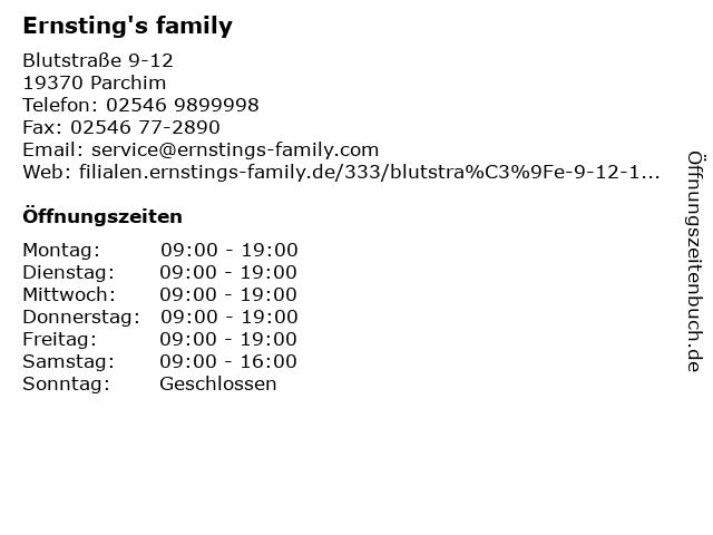 Ernsting's family in Parchim: Adresse und Öffnungszeiten