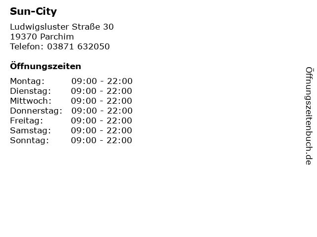 Sun-City in Parchim: Adresse und Öffnungszeiten