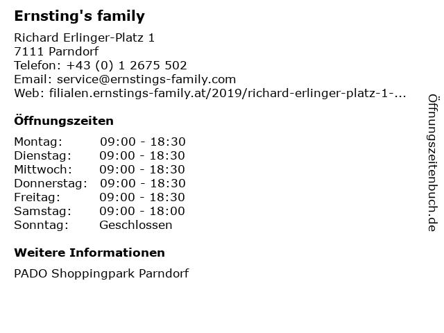 Ernsting's family Austria GmbH in Parndorf: Adresse und Öffnungszeiten