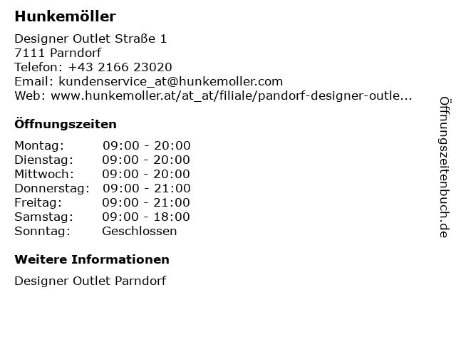 Hunkemöller Lingerie Shop in Parndorf: Adresse und Öffnungszeiten
