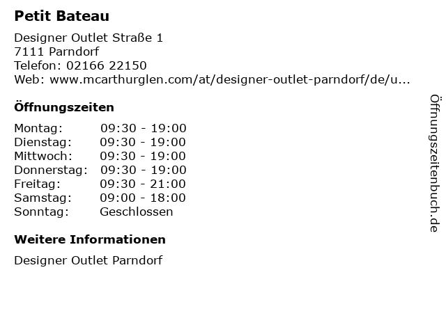 Petit Bateau in Parndorf: Adresse und Öffnungszeiten