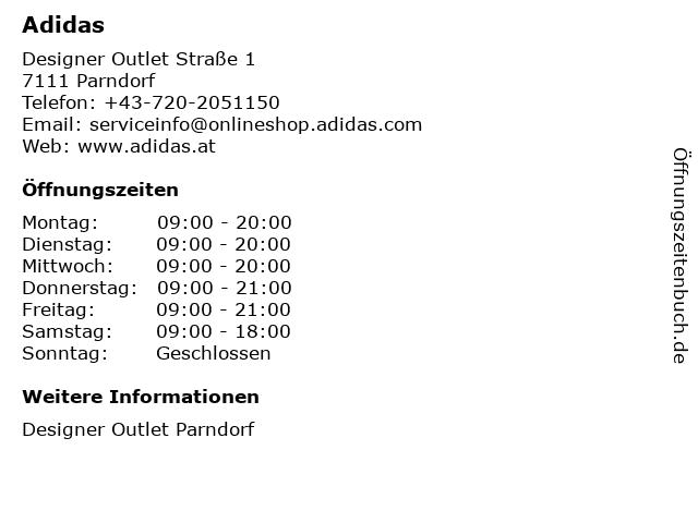 adidas Outlet in Parndorf: Adresse und Öffnungszeiten