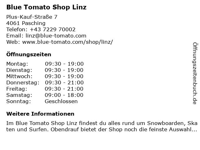 Blue Tomato Shop Linz in Pasching: Adresse und Öffnungszeiten