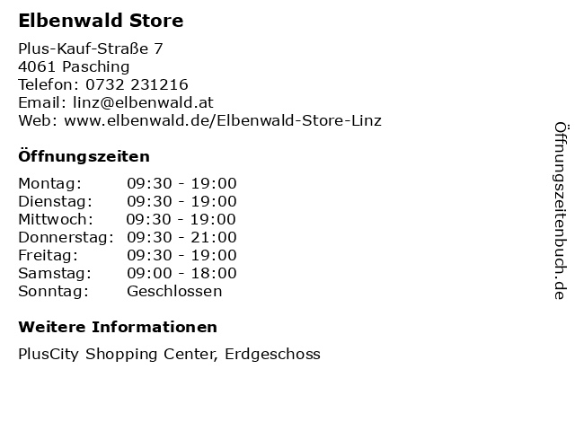 Elbenwald Store in Pasching: Adresse und Öffnungszeiten