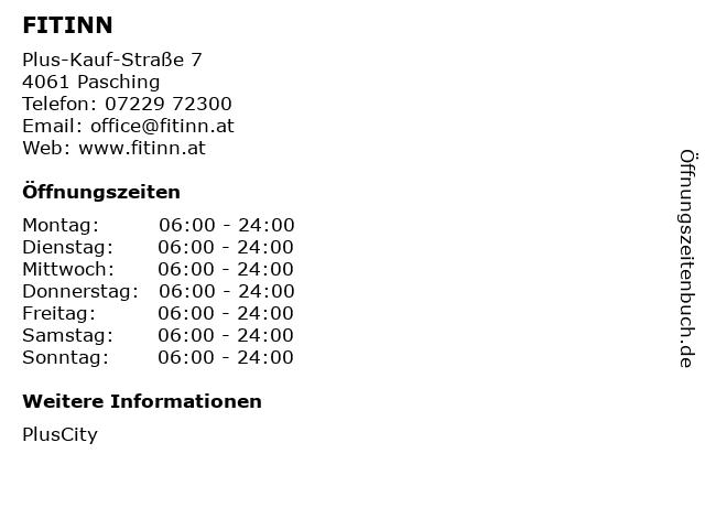 FITINN in Pasching: Adresse und Öffnungszeiten
