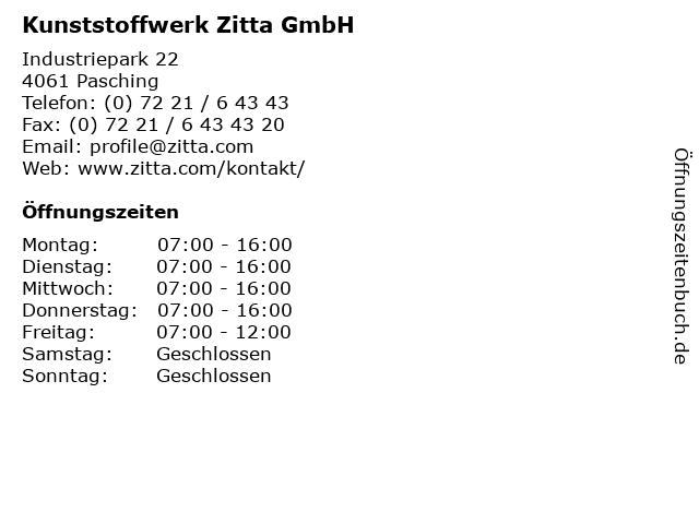 Kunststoffwerk Zitta GmbH in Pasching: Adresse und Öffnungszeiten