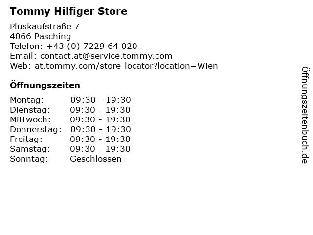 Tommy Hilfiger Store in Pasching: Adresse und Öffnungszeiten
