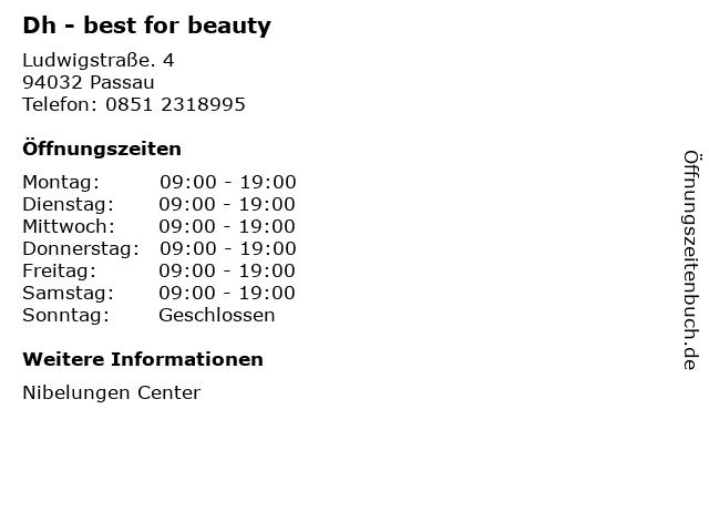 Dh - best for beauty in Passau: Adresse und Öffnungszeiten